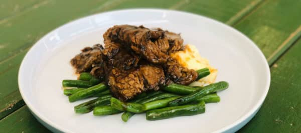 Beef Brisket Beans Mash in Hickory Sauce -