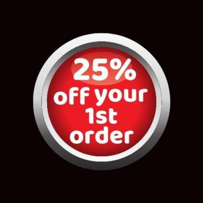25% off button