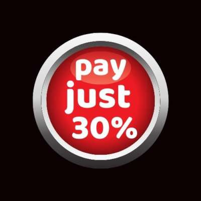 pay just 30%