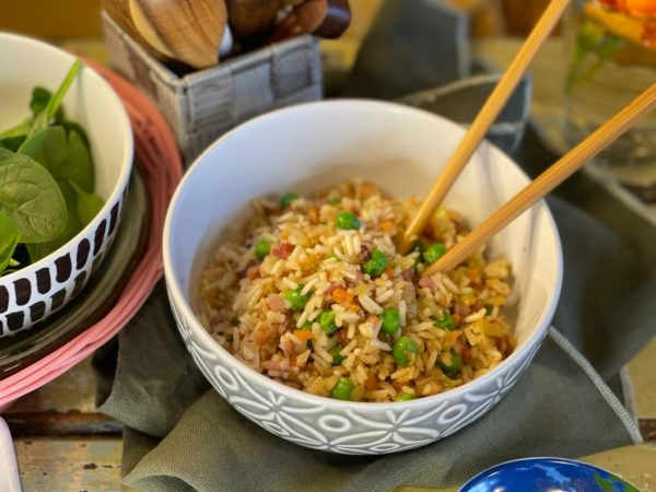 Fried Rice with Bacony Bacon -
