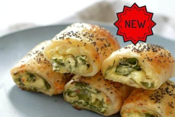 Spinach Feta & Ricotta Pastry Roll -