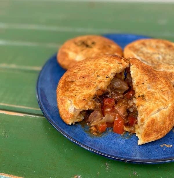 Tomato & Onion Brisket Pie -