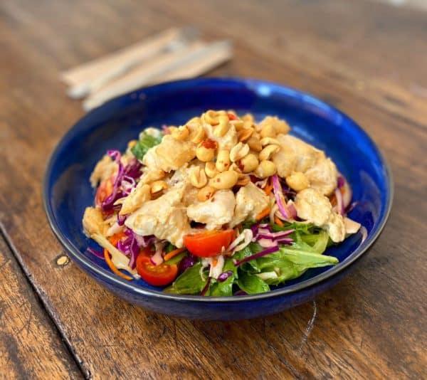 Warm Peanut Chicken Salad -